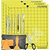 "HIRALIY 15 Pcs Vinyl Weeding Tools Set with 3 Pack 12"" x12"" Cutting Mats Craft Weeding Tools Basic Kit for Weeding Vinyl, Cri"