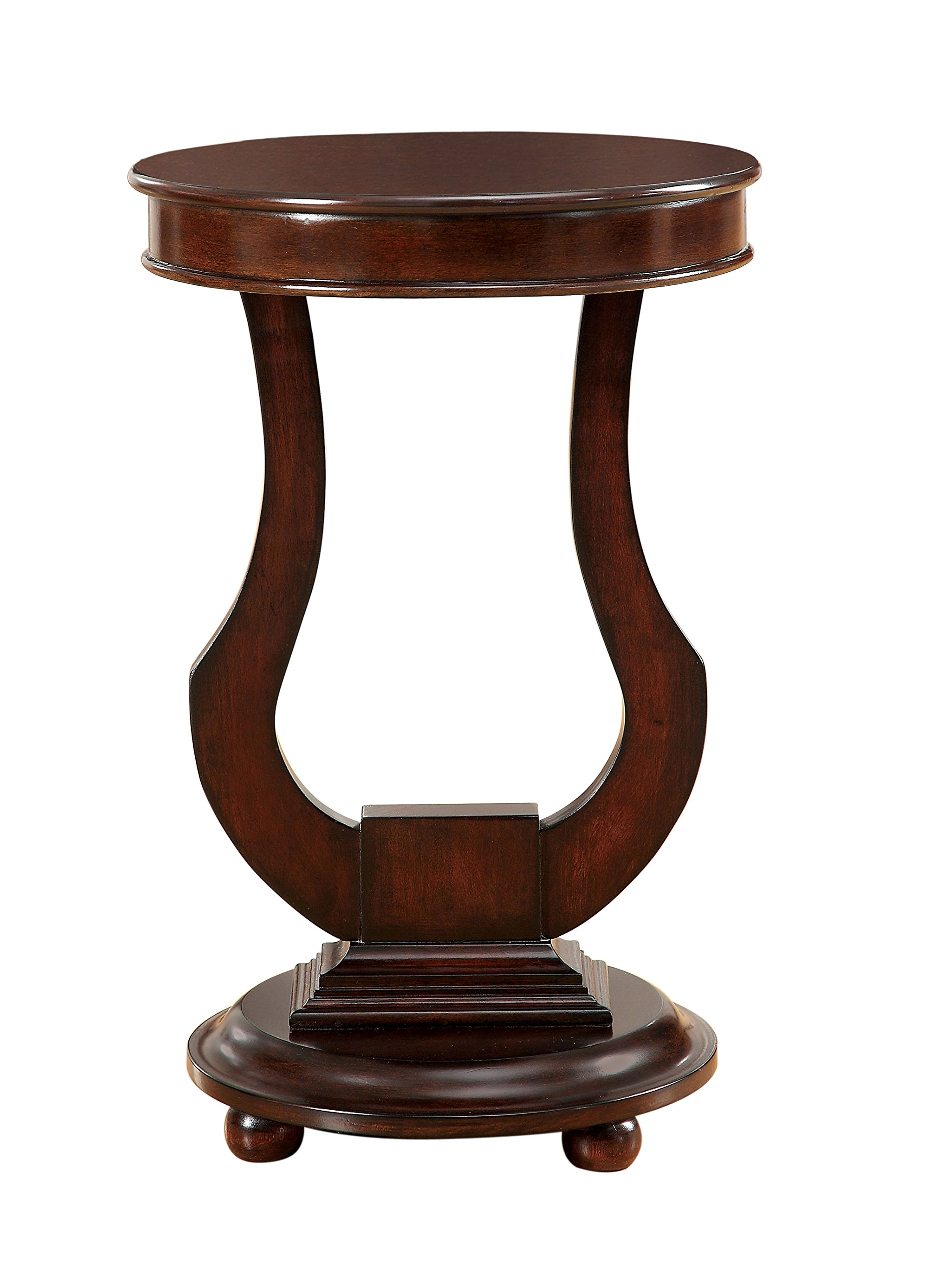 Furniture of America Ringling Solid Wood Side Table, Dark Walnut
