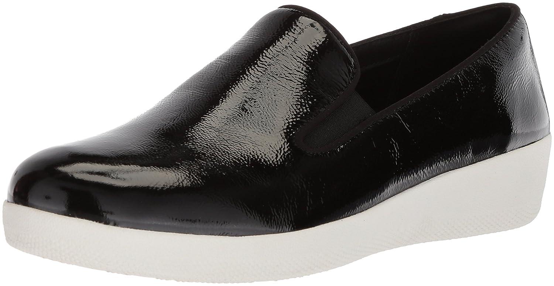 FitFlop Women's Superskate Sneaker B079LR2P48 9 B(M) US|Black/White