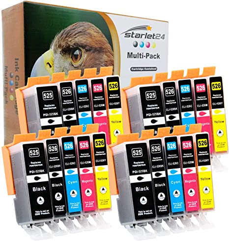 20er Set D C Druckerpatronen Kompatibel Für Canon Pgi 525 Cli 526 Ip4800 Ix6550 Mg5100 Mx710 Bürobedarf Schreibwaren