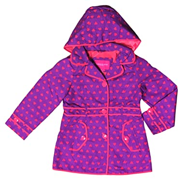 126018d7c308 Amazon.com  London Fog Hooded Fleece Lined Jacket For Girls  Clothing