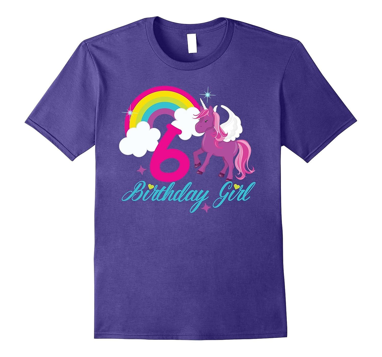 Rainbow Happy Birthday Unicorn Shirt 6th Tee RT Rateeshirt