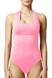 3a8018c975 TLC Sport Women s Tummy Control Slimming Shaping Halter Swimsuit Swimming  Costume Pink