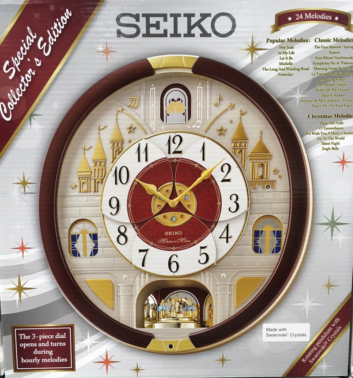 seiko collector edition melodies in motion wall clock