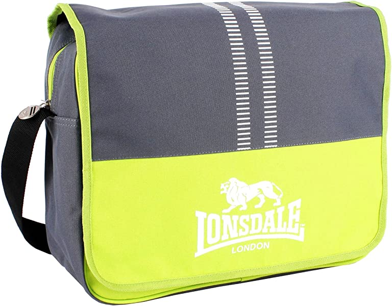 Lonsdale Unisex Union Love Heart Messenger Sports School College Gym Bag