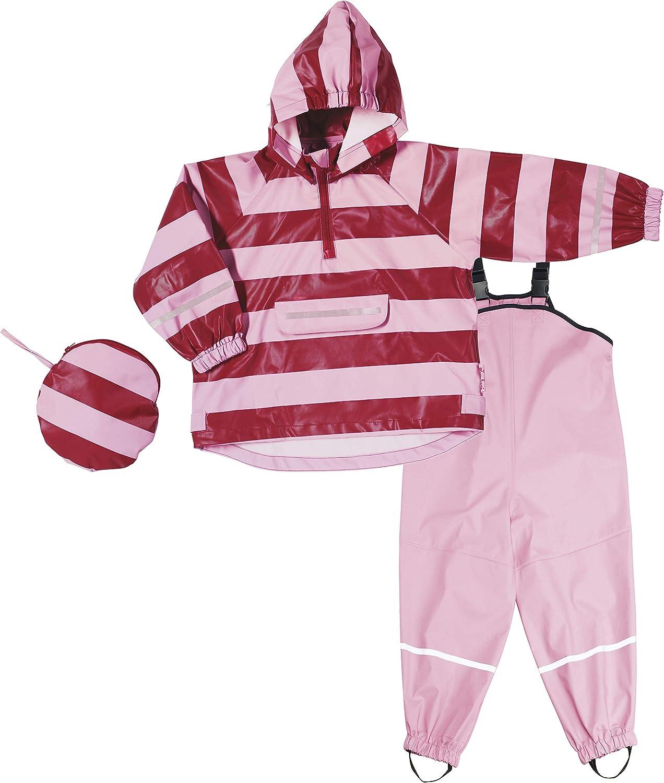Playshoes Regen-Set Streifen Giacca Impermeabile Bambina
