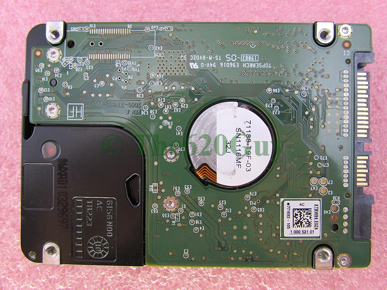 Dell W94DJ Western Digital Scorpio Black 250GB 7200RPM SATA 2.5 Hard Drive FW T0