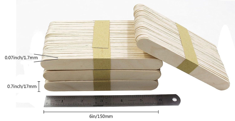 15 cm de largo Varillas de madera para lengua 500 unidades depresor jumbo de madera