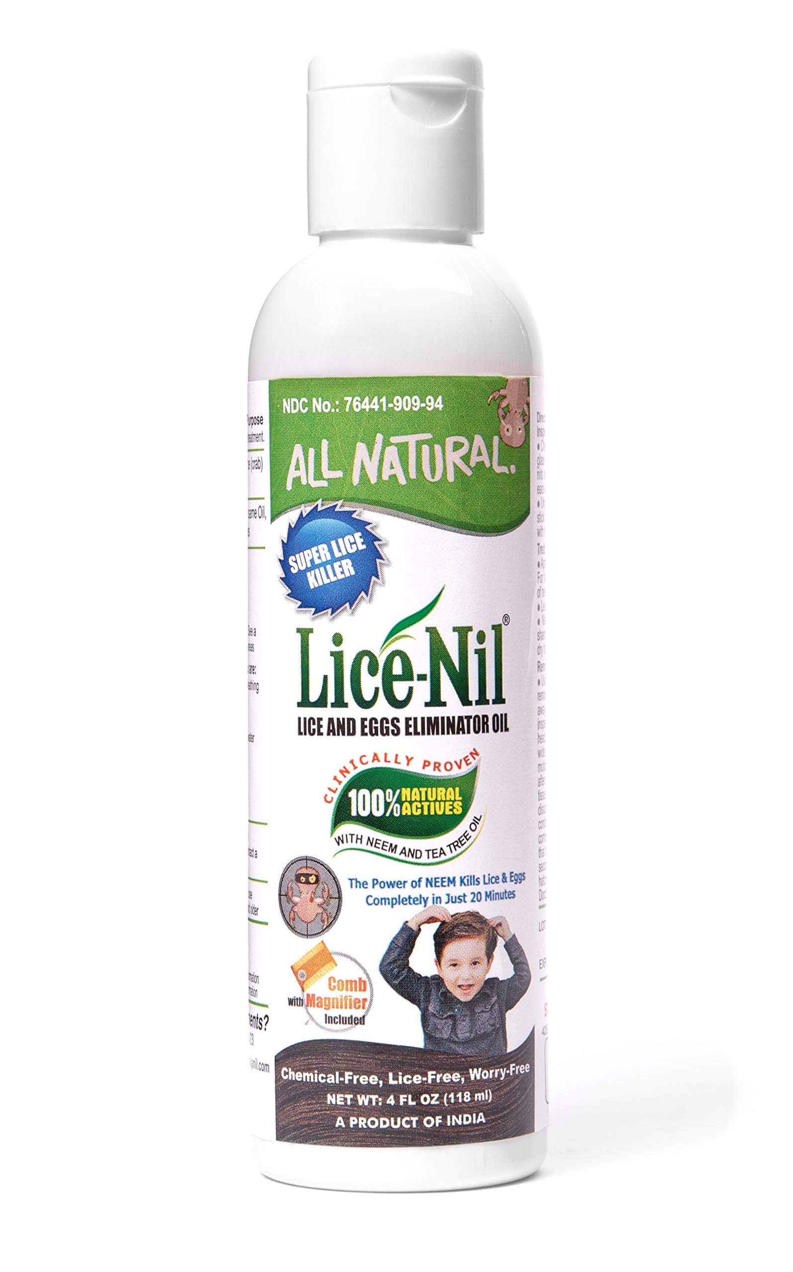 Lice-Nil - Natural Head Lice Treatment Oil | 4 oz by Lice-Nil
