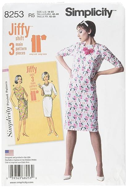 Simplicity 8253 R5 – Patrones de Costura para Vintage 1960 de Jiffy patrón de Costura