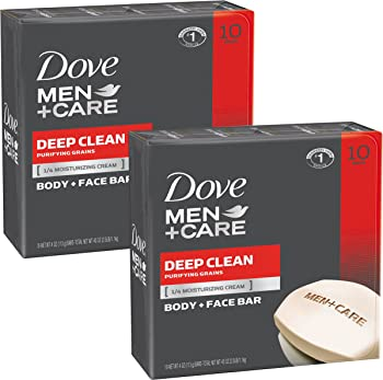 20 Count Dove Men+Care Body and Face Bar Deep Clean