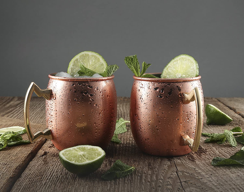 Cambridge Silversmiths 4 Piece Moscow Mule Mug Set 20 oz Copper