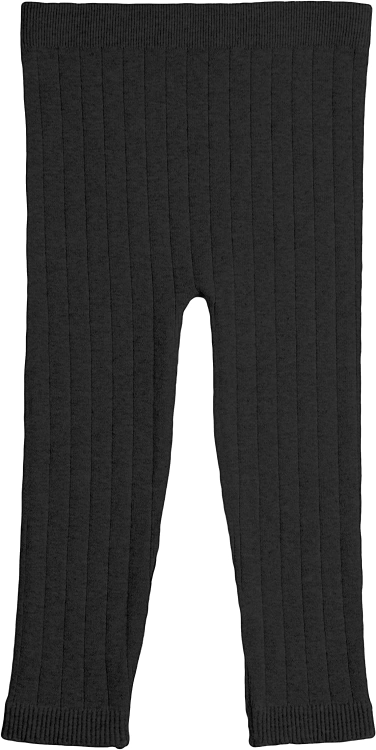 EMEM Apparel Unisex Baby and Toddler Cable//Ribbed Full Length Cotton Leggings