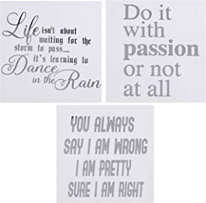 Silver Motivational Quote Stickers for Laptop Computers, Phone Cases and Bullet Journals (Set of 3 Lovely Quotes)