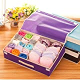 Styleys 15+1 Non Woven Multi Compartment Cell Foldable Storage Box/Closet Organizer/Non-Smell Drawer Organizer for Underwear Closet Storage Socks, Bra, Panty, Tie, Scarf