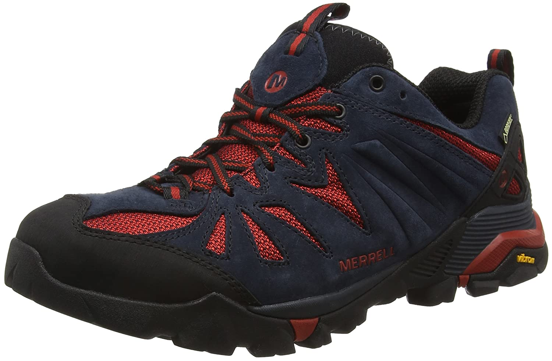 Merrell Capra Gore-Tex - Zapatos de Low Rise Senderismo Hombre, Azul (Navynavy), 46.5 EU: Amazon.es: Zapatos y complementos