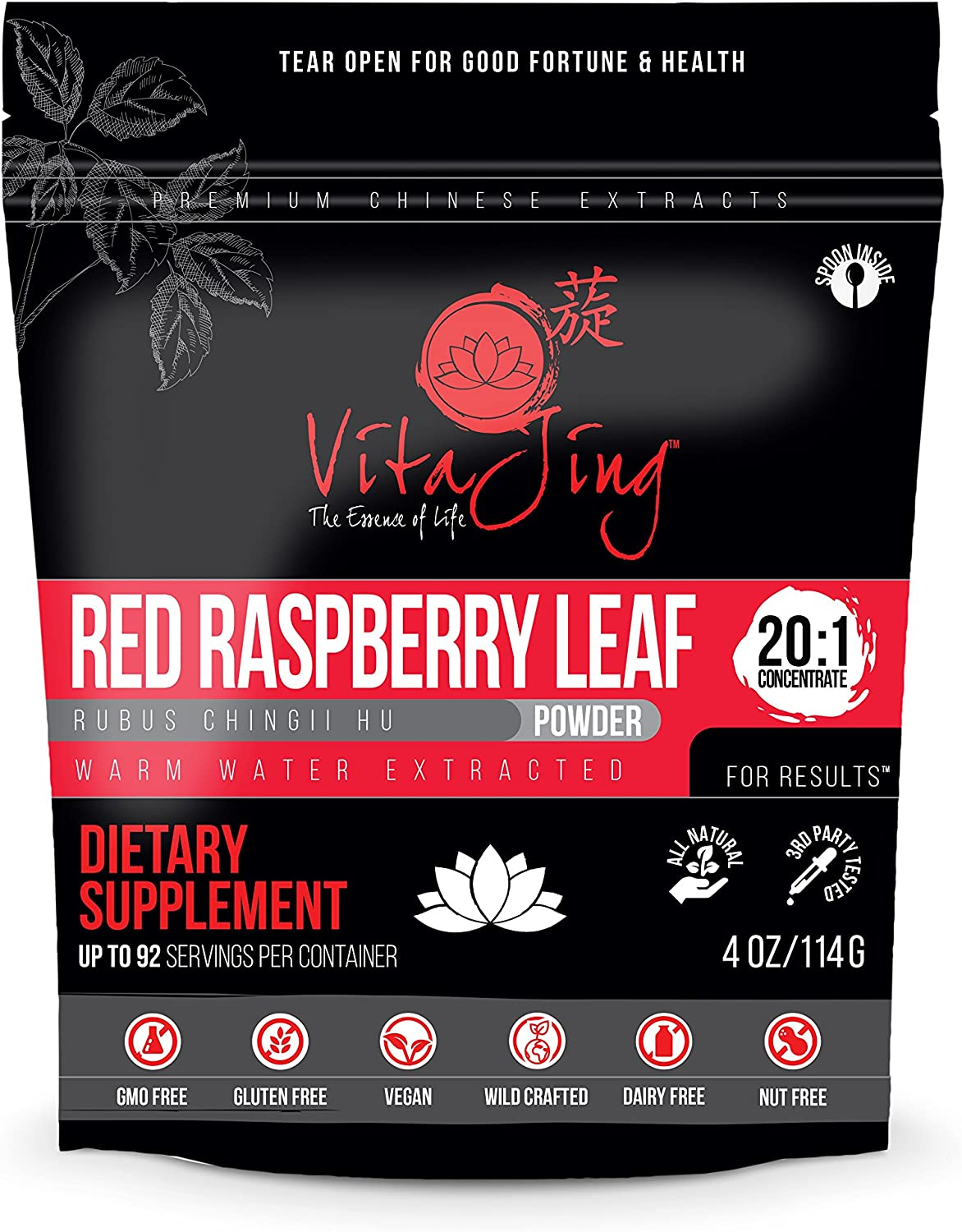 Red Raspberry Leaf Extract Powder 20 1 CONCENTRATION 4oz-114gm