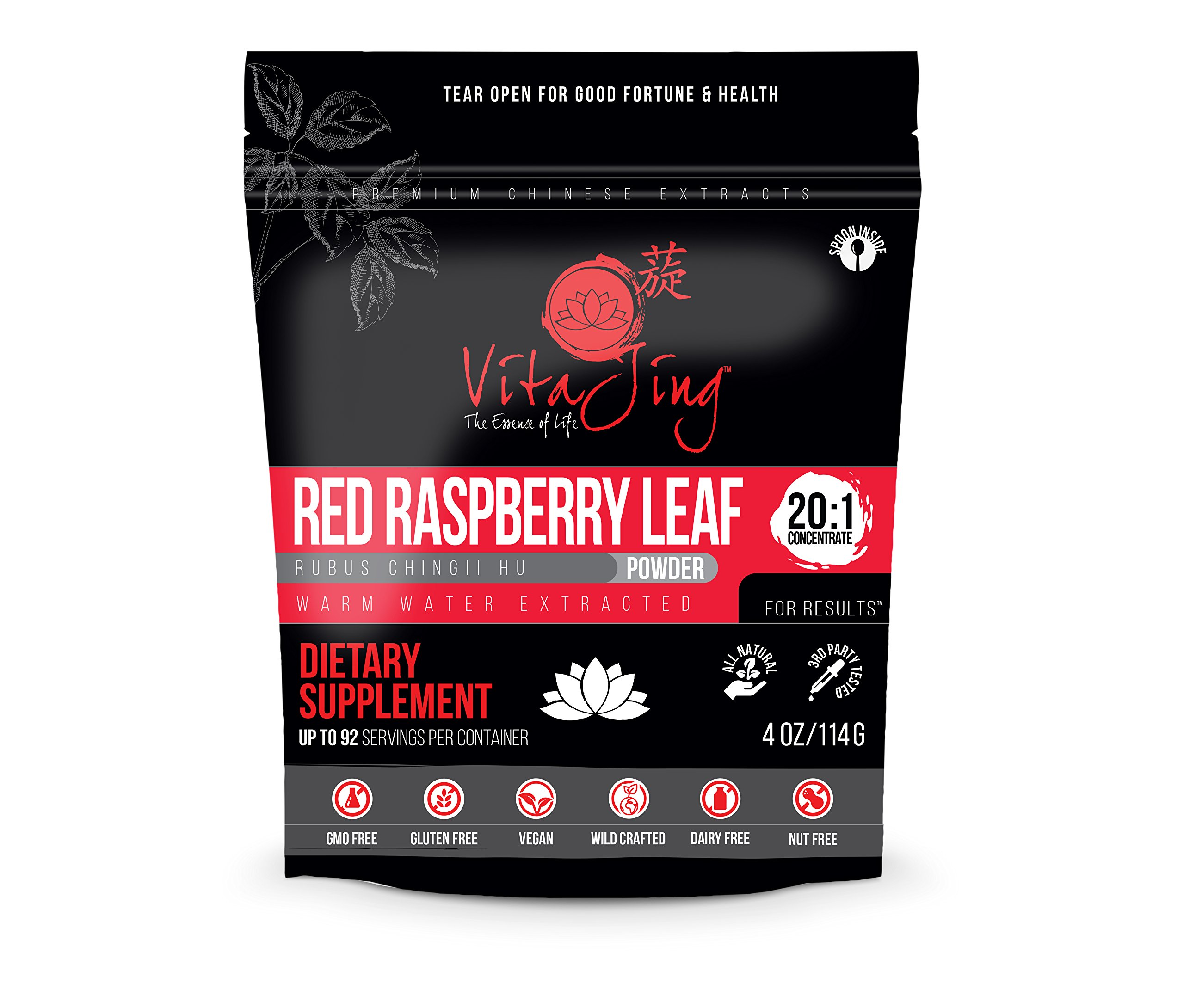 Red Raspberry Leaf Extract Powder 20:1 CONCENTRATION (4oz-114gm)
