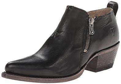 FRYE Women's Sacha Moto Shootie Western Boot, Black, ...