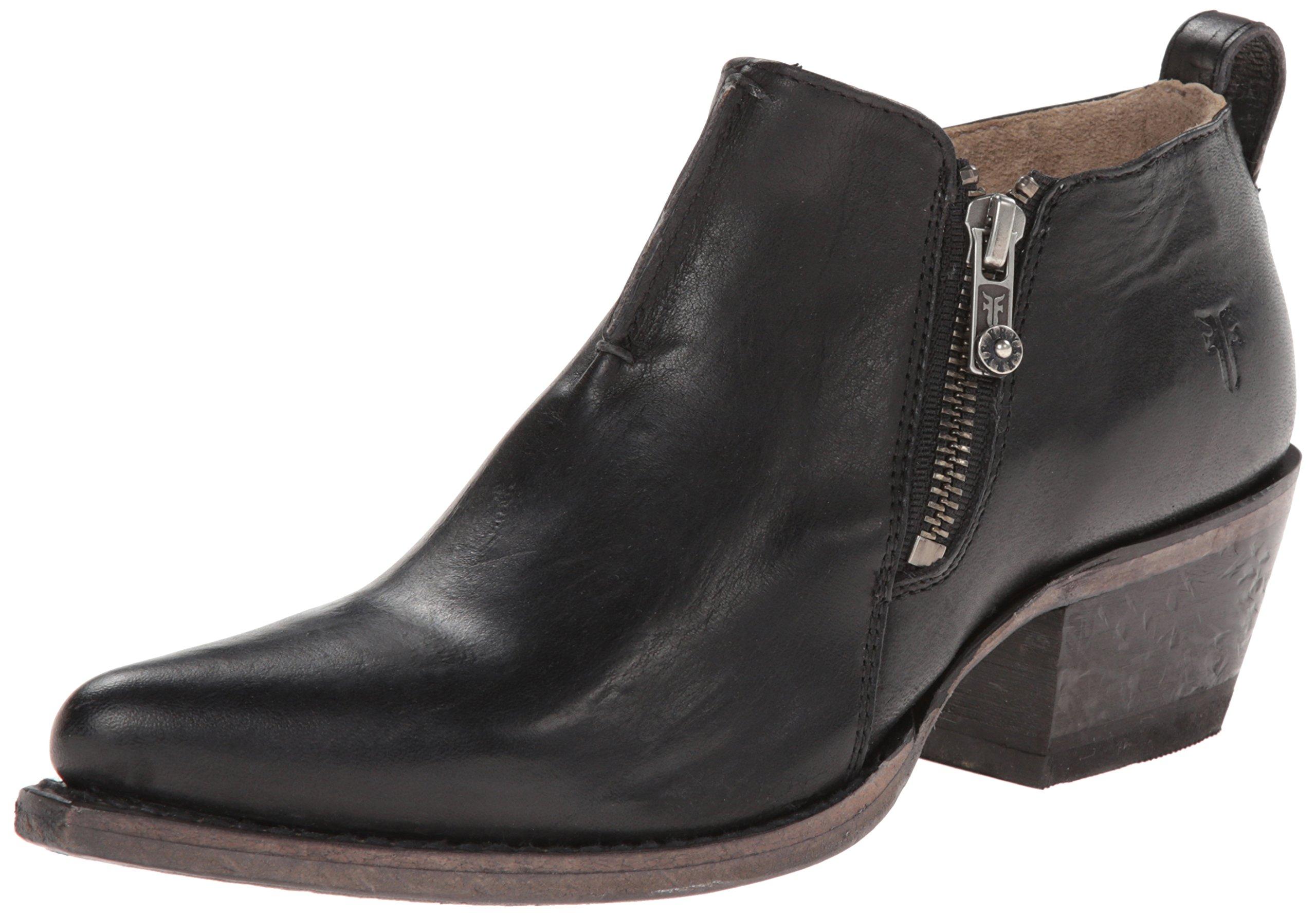 FRYE Women's Sacha Moto Shootie Western Boot, Black, 8 M US