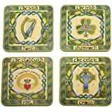 Irish Symbols Cocktail Coasters Set of Four