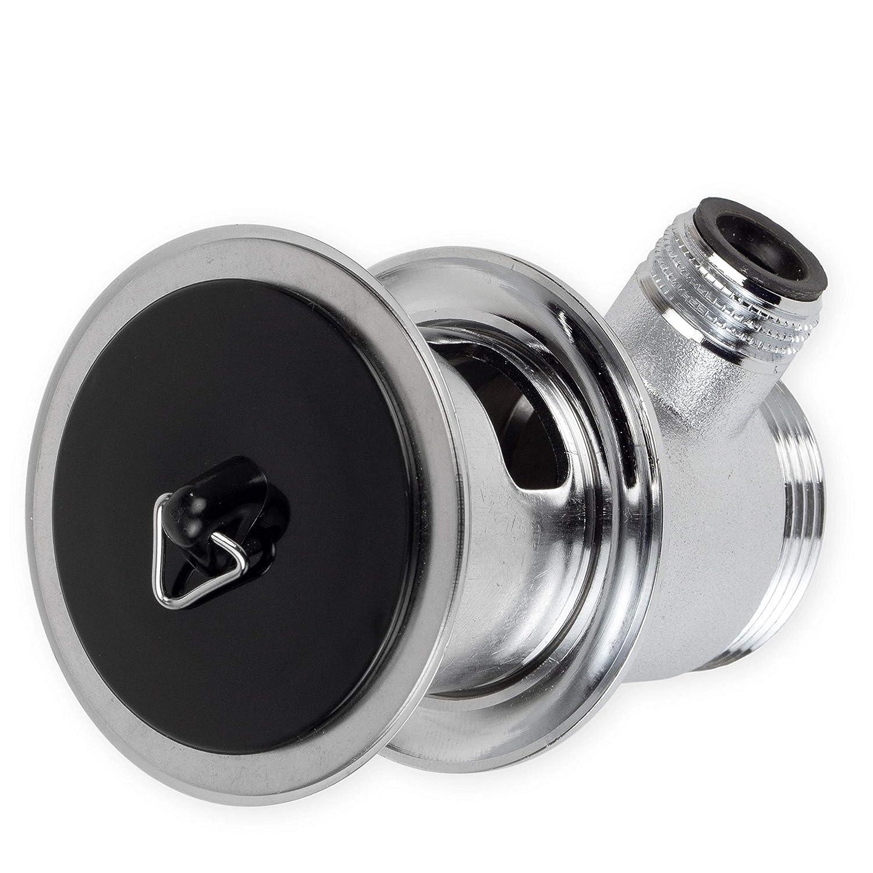 Universal St/öpsel mit 52 mm aus hochwertigem PVC schwarz Premium Waschbecken St/öpsel 44,3 mm Durchmesser
