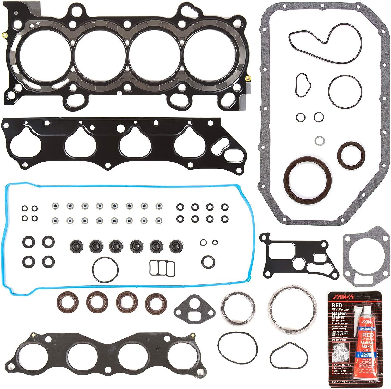 Evergreen FS44048 Full Gasket Set Fit 06-09 Acura CSX Honda Civic 2.0 DOHC K20Z2 K20Z3