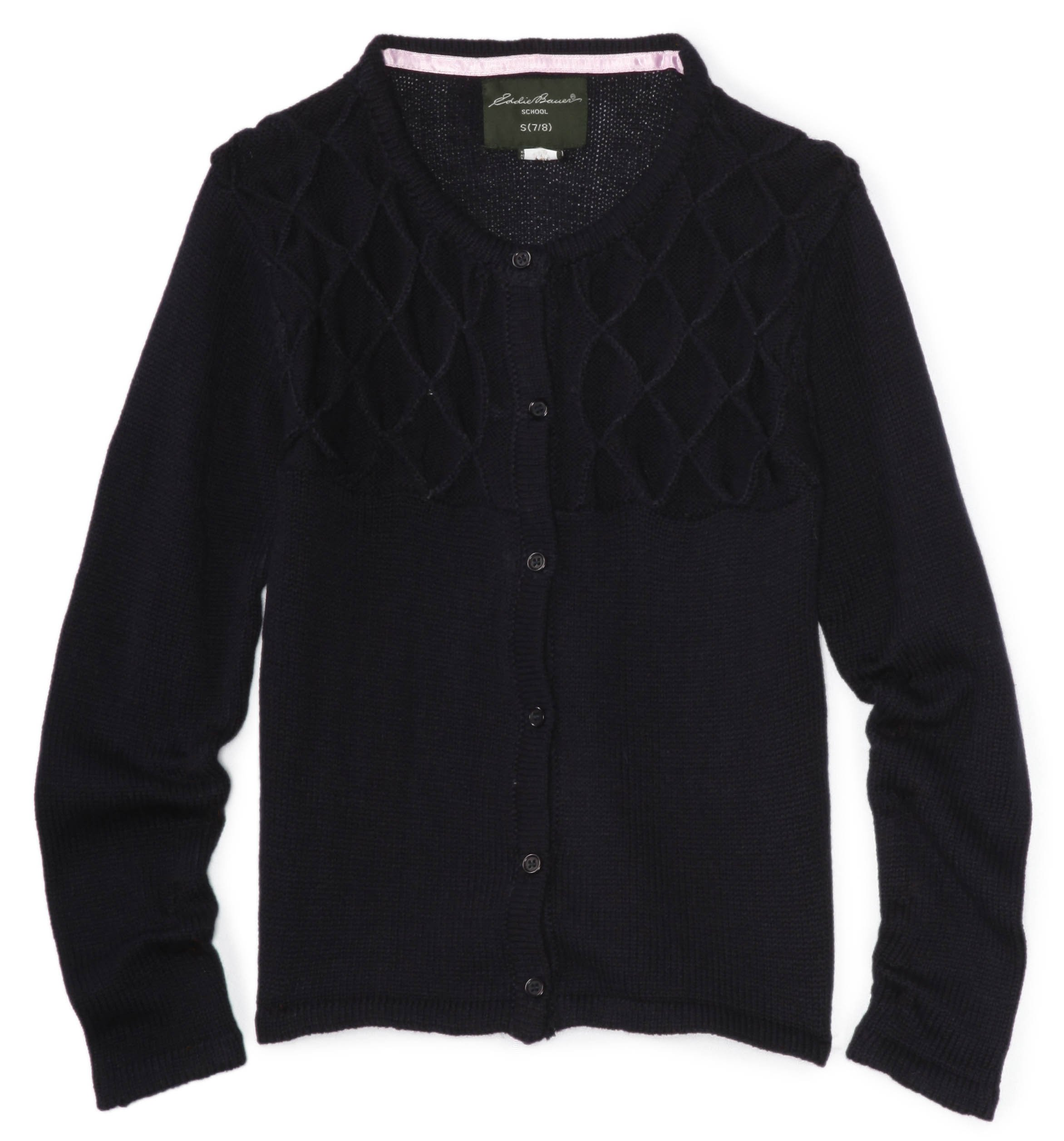Eddie Bauer Girls' Sweater (More Styles Available), True Navy, 10/12