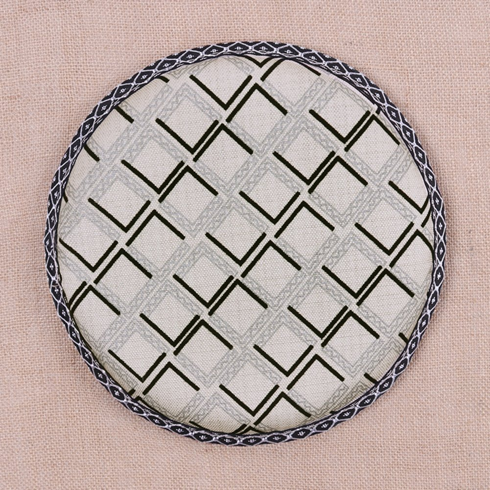 ccyyjjのシートクッションフォームラウンドゴム、Hemp通気性綿のクッション椅子ラウンドバースツールSmallクッション学生ノンスリップマットファブリックchair-h35 cm直径( 14 cm ) diameter33cm(13inch) 1874 B07CKLDHQ6 diameter33cm(13inch)|N N diameter33cm(13inch)
