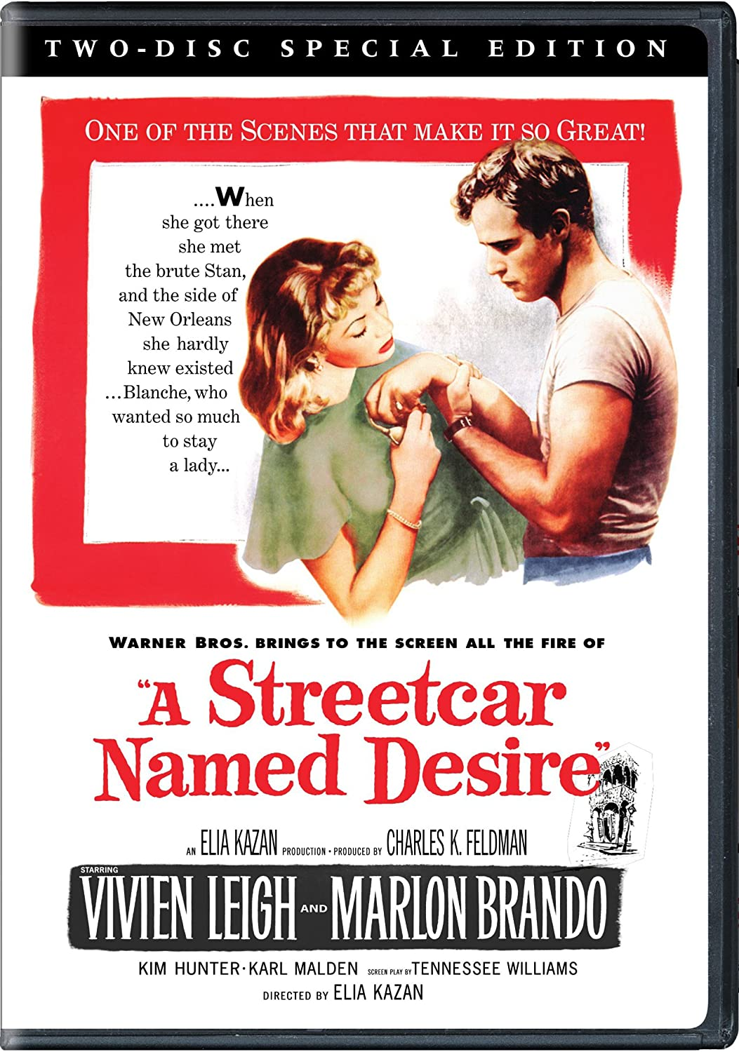 com a streetcar d desire two disc special edition  com a streetcar d desire two disc special edition marlon brando vivien leigh kim hunter elia kazan movies tv