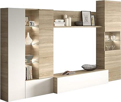 Habitdesign 016642F - Mueble de Comedor con Leds, Acabado en ...