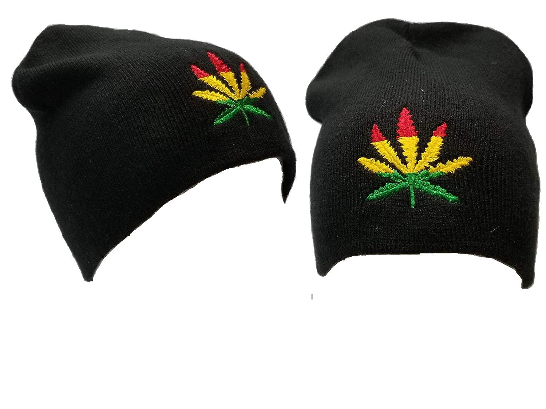 e02af71c5 BUNFIREs Marijuana Weeds Leaf Beanie Skully Cap Ski Hat Rasta Pot ...