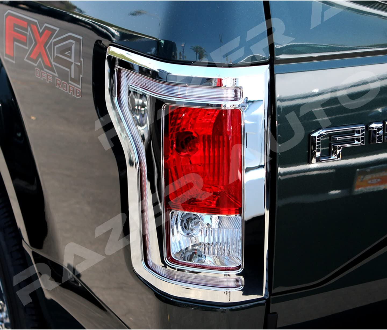 For all Style Chrome Cover Frame For 2015 16 2017 Ford F150 Tail Light Bezel