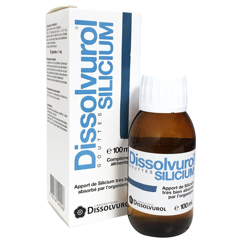 Dissolvurol Silicium Gouttes - Silicio en gotas (tamaño grande, 100 ml): Amazon.es: Salud y cuidado personal