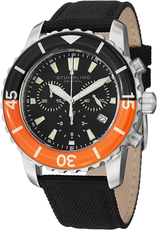 Stuhrling Original Men's 3267.01 Felucca II Date Black
