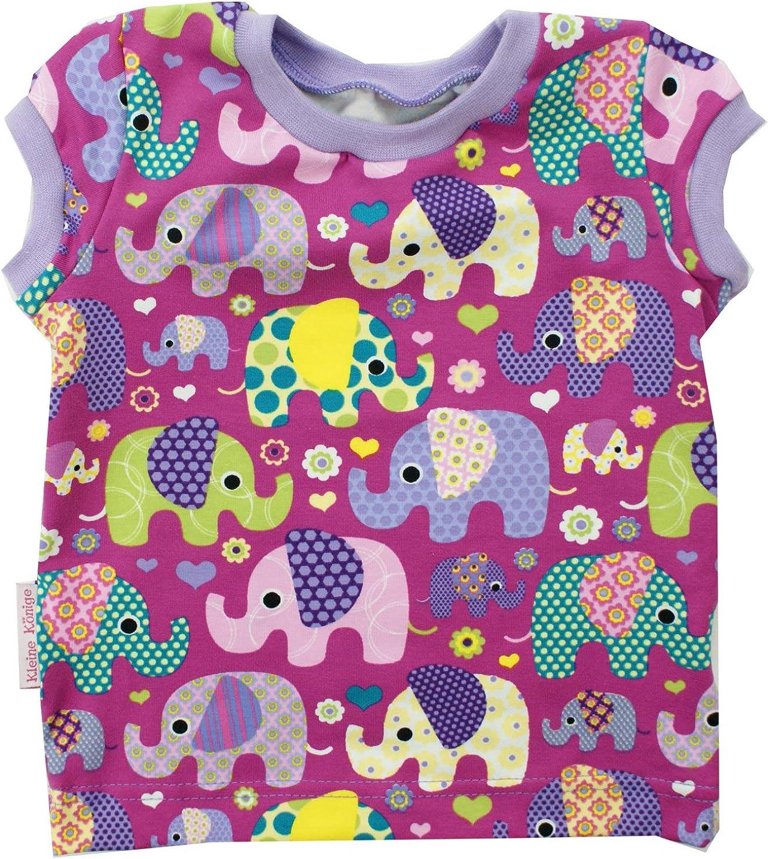 Kleine K/önige Baby T Shirt M/ädchen /· Modell Elefantenparty lila Flieder /· /Ökotex 100 Zertifiziert /· Gr/ö/ßen 62-140