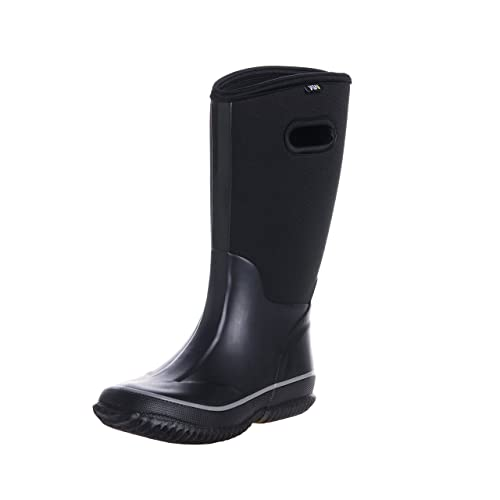 04dfdcc5bdb8c Fuyang WTW Men's Neoprene Rubber Rain Snow Boots Black: Amazon.ca ...