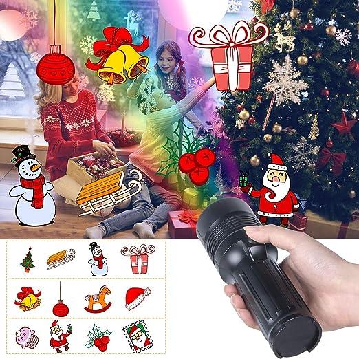 Luces de Proyector Navidad, UNIFUN Linterna y Proyector con ...