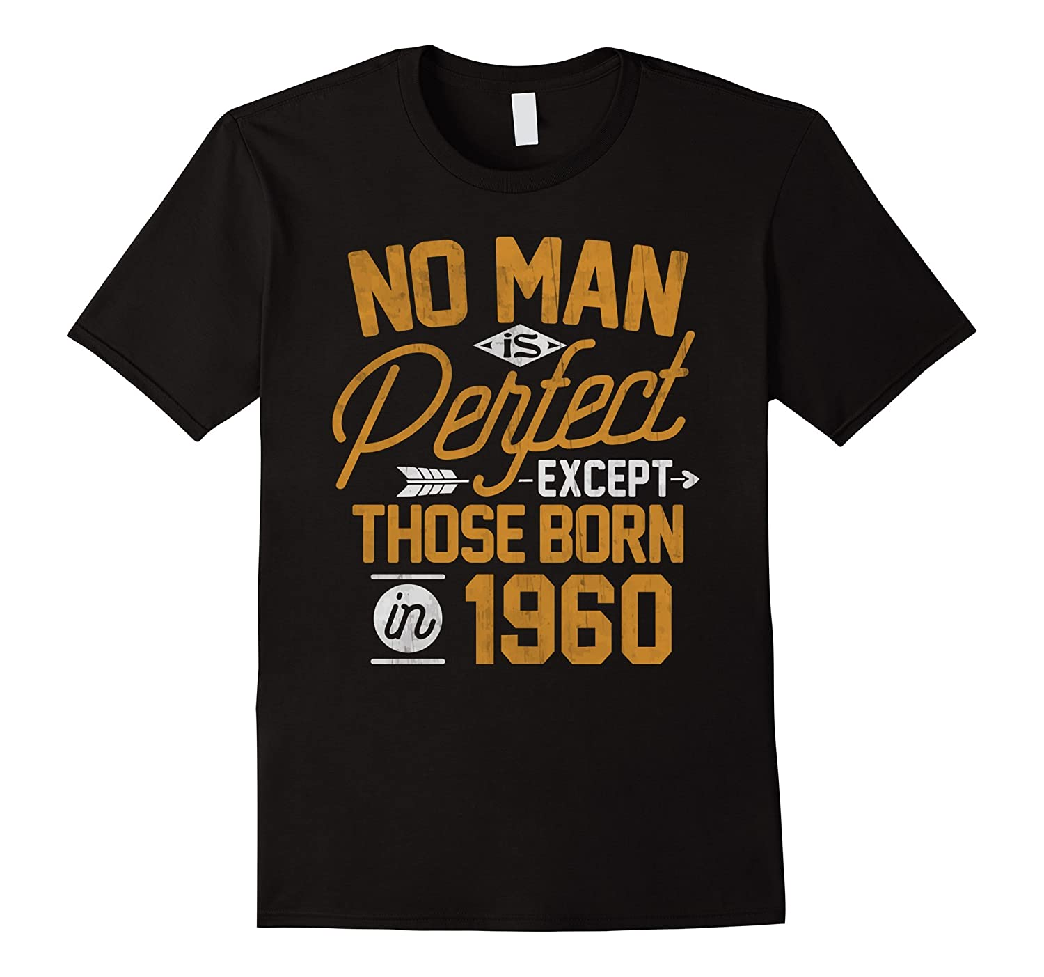 57th Birthday Shirt for 57 Years Old No Man Is Perfect 1960-PL