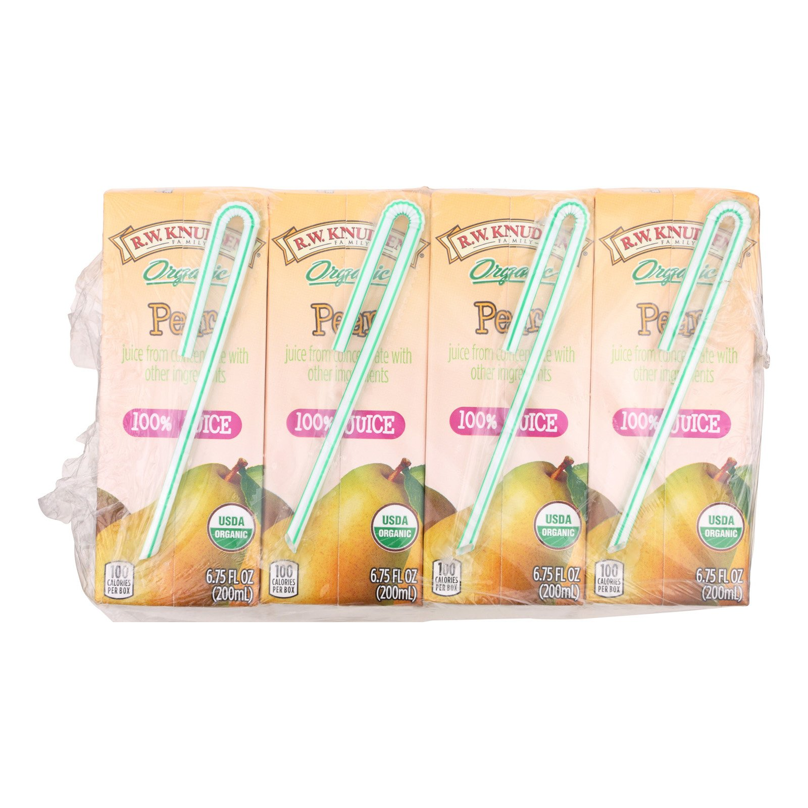 R.W. Knudsen Organic Juice - Pear - Case of 7 - 6.75 Fl oz.