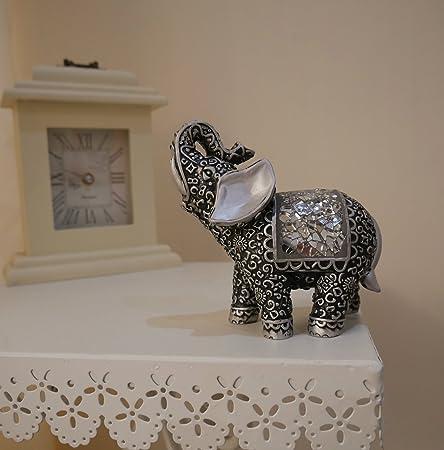 homezone shabby chic silver mosaic buddha indian elephant home