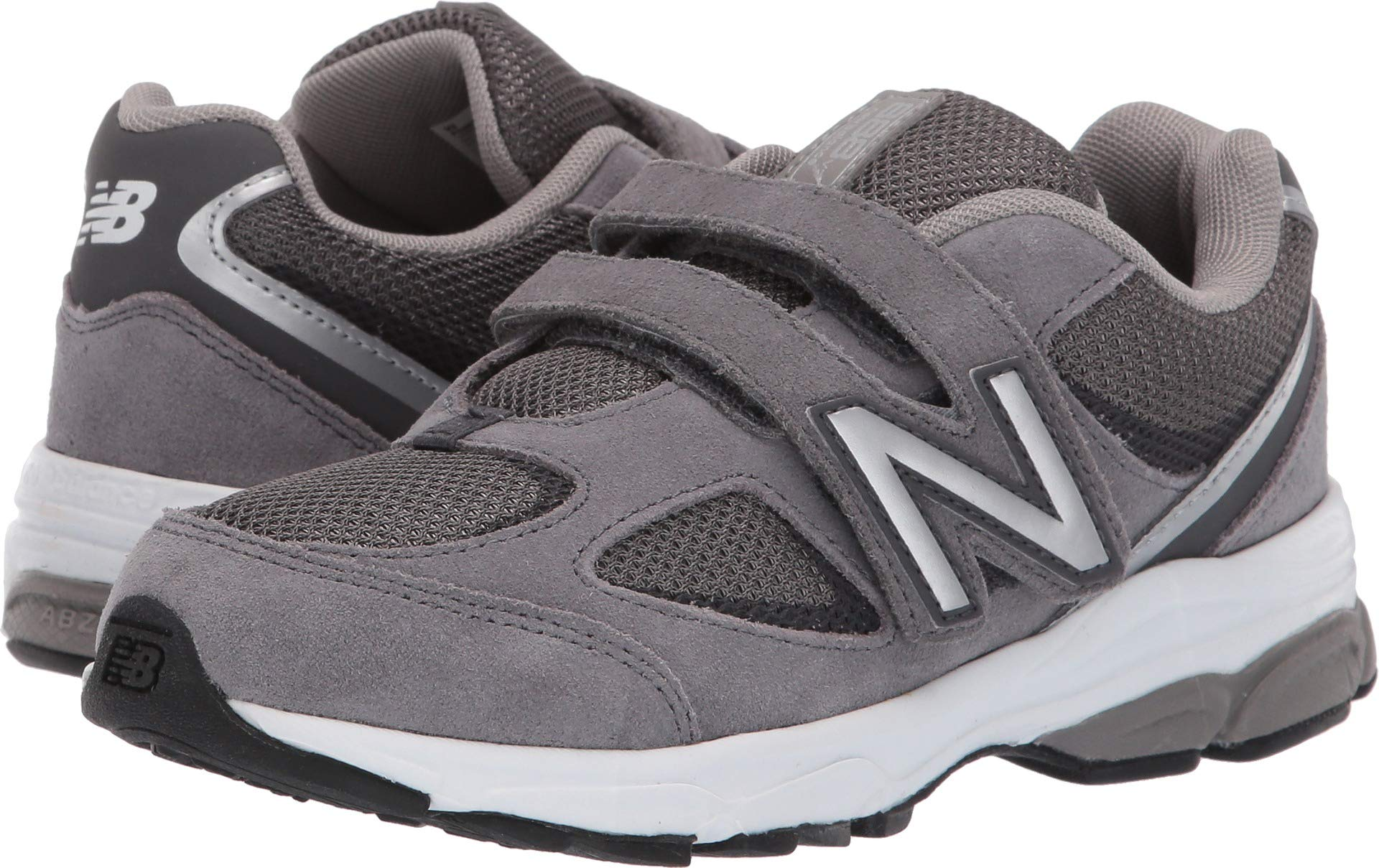 New Balance Boys' 888v2 Hook and Loop Running Shoe, Dark Grey, 1 M US Little Kid