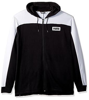 90b0276c7af2d PUMA Men's Rebel Block Full Zip Hoodie at Amazon Men's Clothing store: