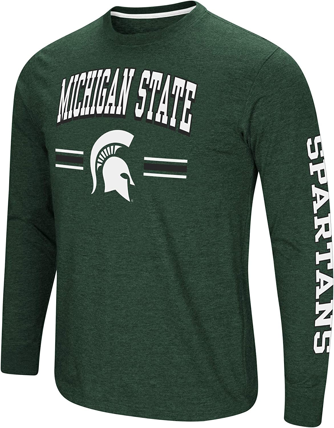 Colosseum Mens NCAA-Touchdown Pass Dual Blend Long Sleeve T-Shirt