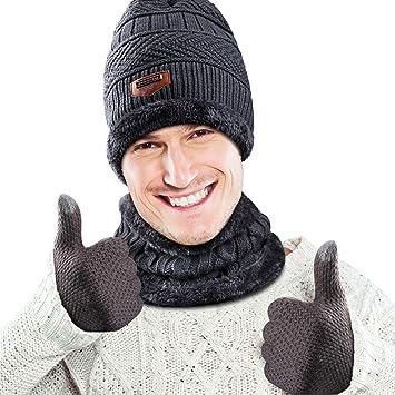 3fbfa4b6705 WOSTOO Bonnet Chapeau Tricot