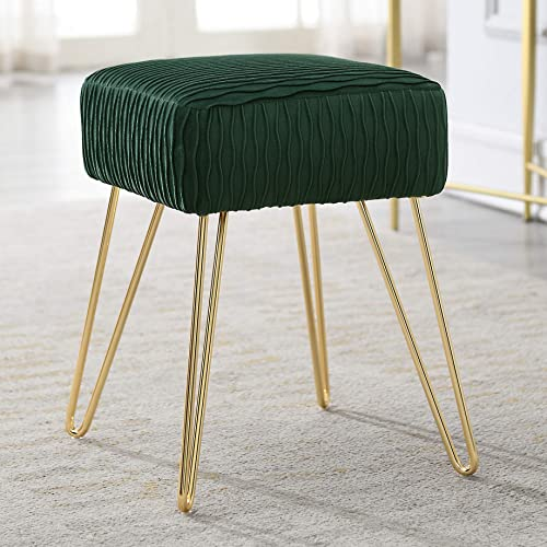 Comfortland Army Green Velvet Vanity Stool Chair