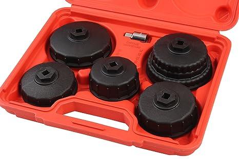 5 piezas Nylon Cap filtro de aceite llave Set, filtro de aceite Socket Set por