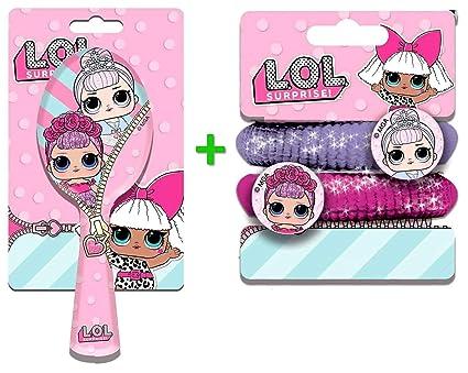 Pack cepillo secador + 2 elásticos Ties para niñas