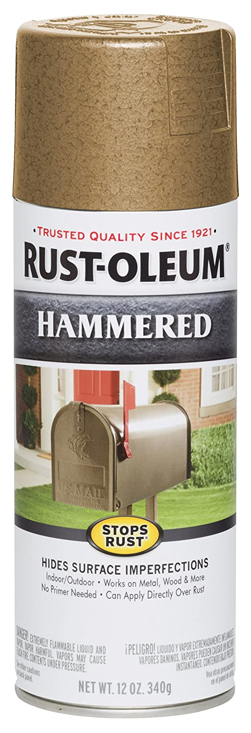 Amazon.com: Rust-Oleum 250899 12-Ounce Spray Paint, Hammered Metal Finish Oatmeal: Home Improvement