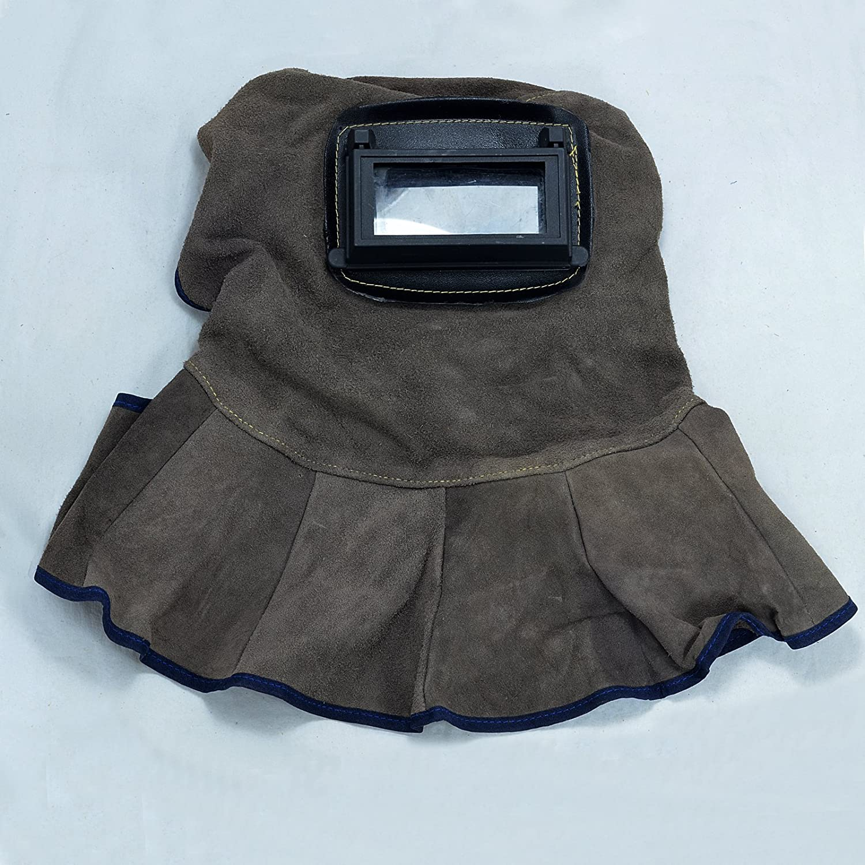 Capucha de soldadura de cuero Casco con lentes automáticas de filtro oscuro Seguridad en Soldadura Careta: Amazon.es: Bricolaje y herramientas